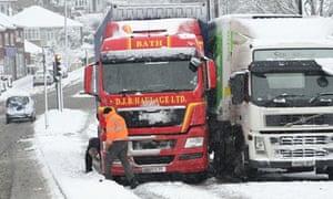 Snow in Bristol, Britain - 18 Jan 2013