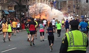Runners during the Boston bombings