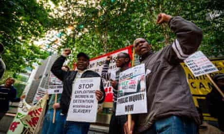 Movement for Justice protest demands the closure of Yarl's Wood Detention Immigration Removal Centre