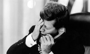 President Kennedy hears of the assassination of Patrice Lumumba in 1961