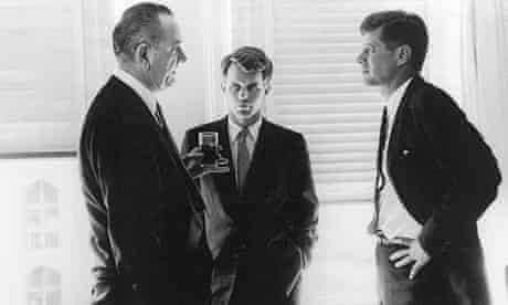 Lyndon Johnson, President Kennedy and Robert Kennedy