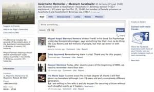 Auschwitz-Birkenau Facebook page