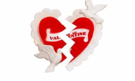Broken heart valentine