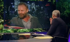 Jeremy Paxman grills Sting on Newsnight