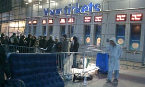 Punters queue in the early hours to buy tickets for Michael Jackson