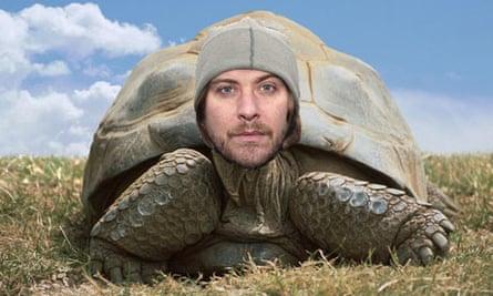 Doves singer Jimi Goodwin as a tortoise