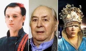Gary Numan, JG Ballard and Luke Steele from Empire of the Sun
