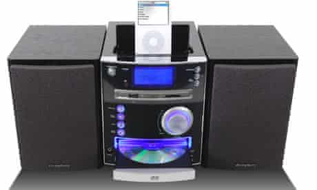 Stereo with iPod dock