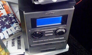 The Guardian's office stereo