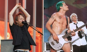 Thom Yorke and Flea from Red Hot Chili Peppers