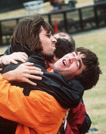 Oasis at the Knebworth Festival, 1996