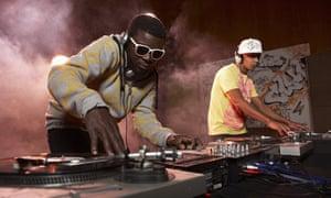 DJs mixing
