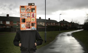 Richard Milward with his tower block box hat