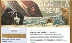 Music blog Gorilla Vs Bear