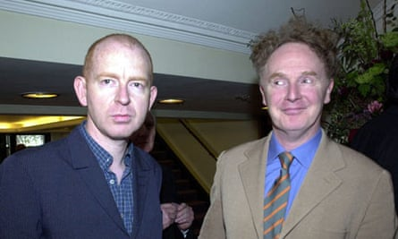 Alan McGee with Malcolm McLaren
