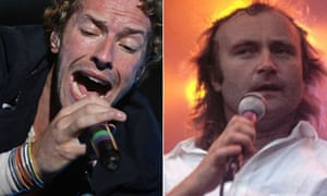 Chris Martin of Coldplay and Phil Collins