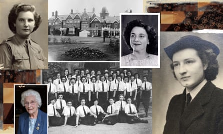 Clockwise from top left: Betty Webb, Bletchley Park in Buckinghamshire, Joan Joslin, Joyce Aylard, the Colossus codebreakers in 1945, and Betty Webb at 91, pictured in 2014. Photography: Courtesy of Bletchley Park, Mirrorpix, Getty Images, Rex/Shutterstock