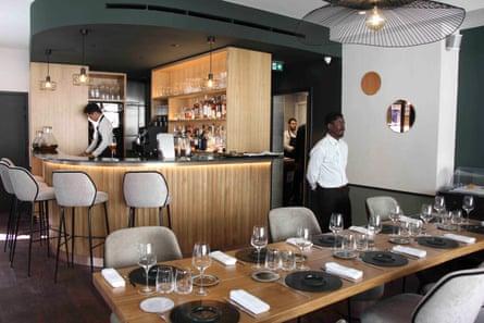 Interior of the Anona restaurant, Batignolles, Paris.