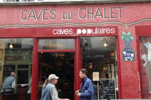 Exterior of the Caves Populaires in the Batignolles area of Paris.