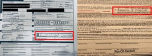 Election officials examined the signature Weisfeld put on the ballot, compared it to one they had on file, and determined they weren't from the same person.